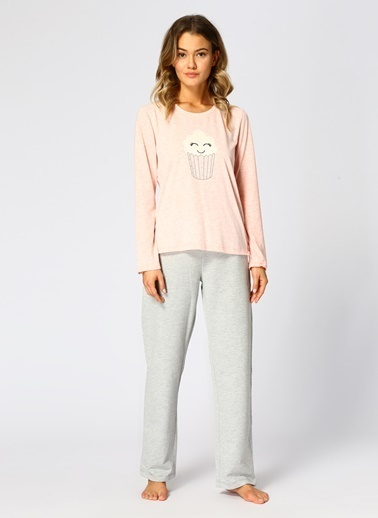 T-Box Pijama Takım Pembe
